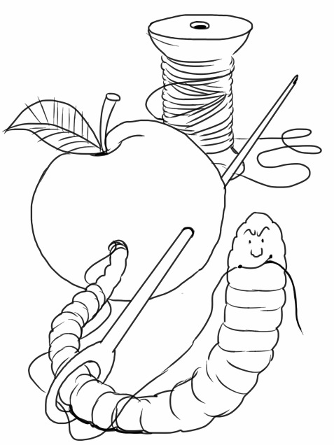 Geert, plustaak 8, blz 11, de zure appel-door het oog van de naald kruipen